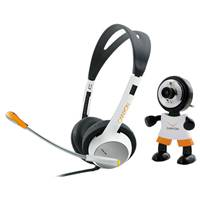 Веб-камера Canyon Multimedia Kit R4CNRCP8 (Camera CNR-WCAM113 & Headset CNR-HS11) Black /Orange